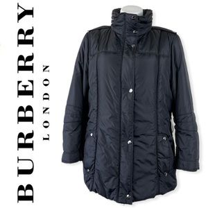 Burberry London Quilted Puffer Jacket Coat Black